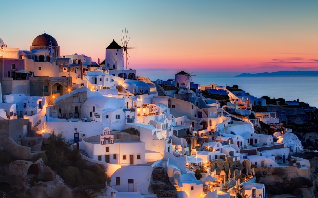 santorini-greece-background